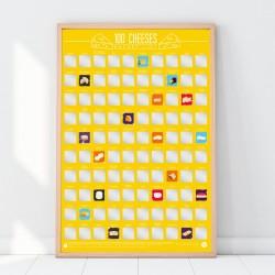 Poster 100 formaggi da mangiare