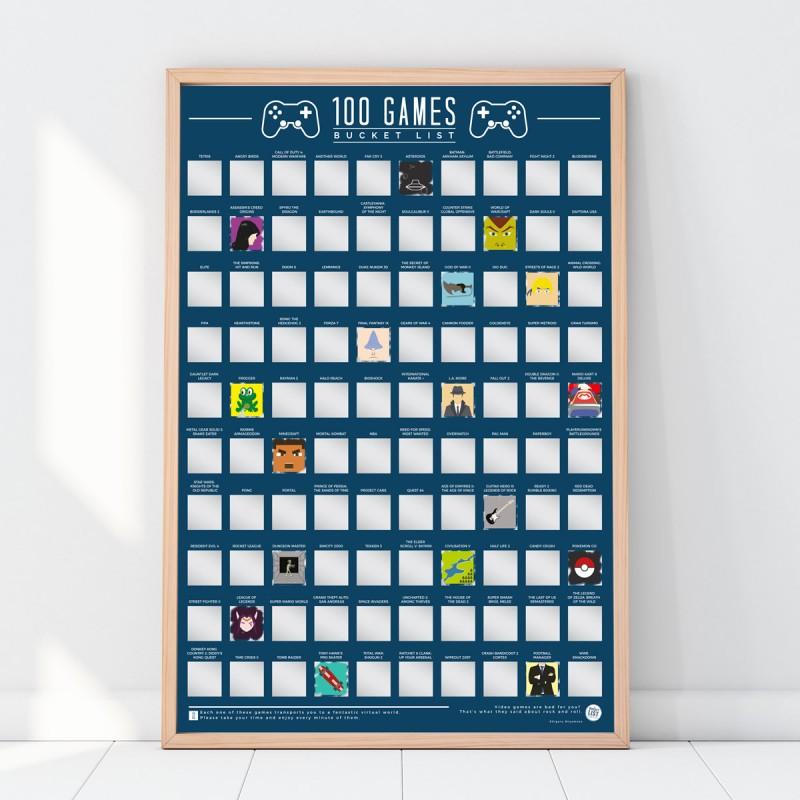 Poster 100 videogame da giocare