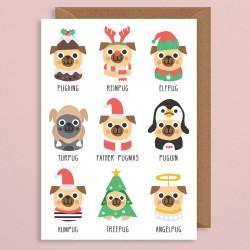Biglietto di auguri Cagnolini di Natale