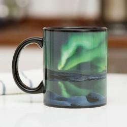 Mug termosensibile Aurora boreale
