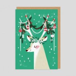 Biglietto di auguri Renna natalizia