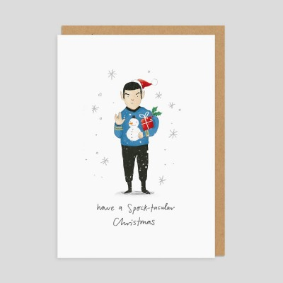 Biglietto di auguri di Natale Spock