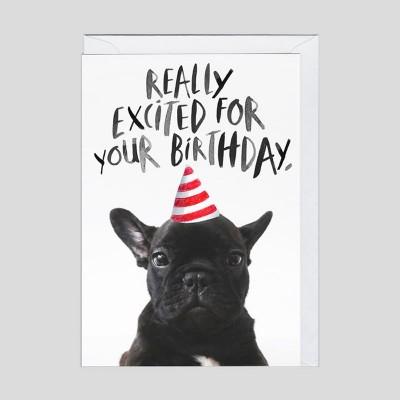 Biglietto di auguri Bulldog di compleanno