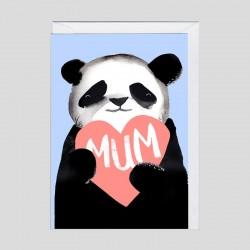 Biglietto di auguri Panda