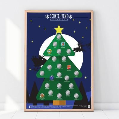 Poster da grattare di Natale