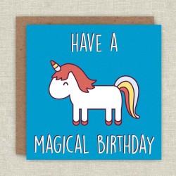 Biglietto di compleanno Unicorno Chibi