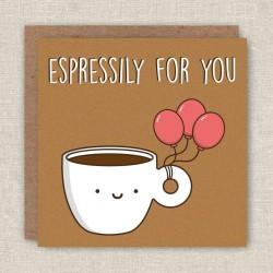 Biglietto di auguri Caffè espresso