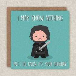 Biglietto di compleanno Jon Snow