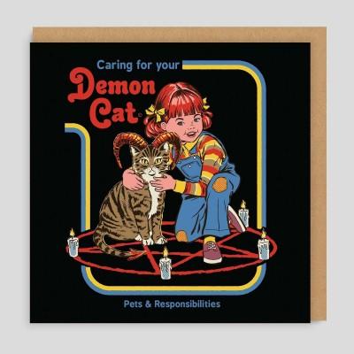 Biglietto di auguri Demon Cat