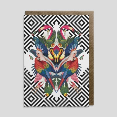 Biglietto di auguri Uccelli tropicali