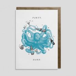 Biglietto di auguri Party Piovra