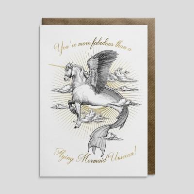 Biglietto di auguri Unicorno Sirena