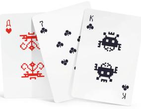 Le carte da gioco di Space Invaders