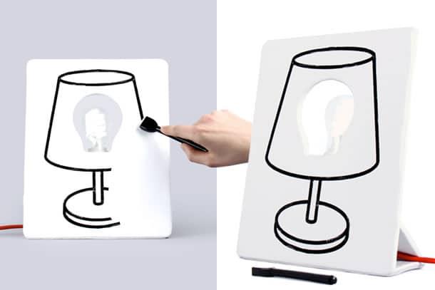 Drawlamp disegna la tua lampada dottorgadget - Disegna la tua cucina ...