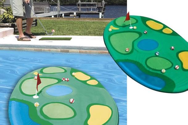 Mini campo da golf galleggiante dottorgadget for Gadget da piscina