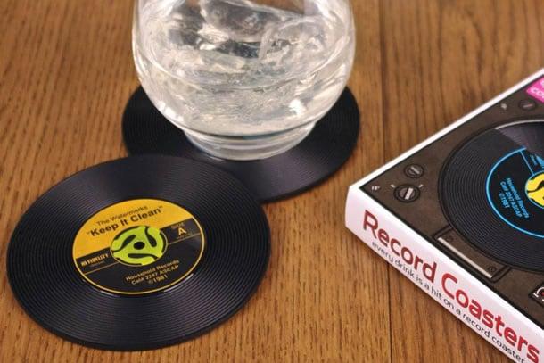 Sottobicchieri dischi in vinile dottorgadget - Porta dischi vinile ...