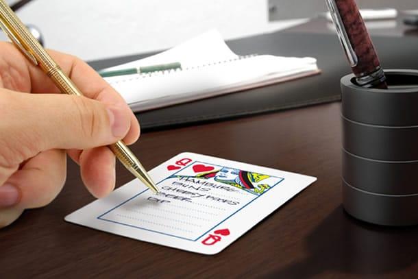 Le carte da gioco per appunti dottorgadget for Gadget da piscina