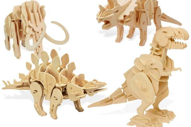 Risultati immagini per dinosauri di legno