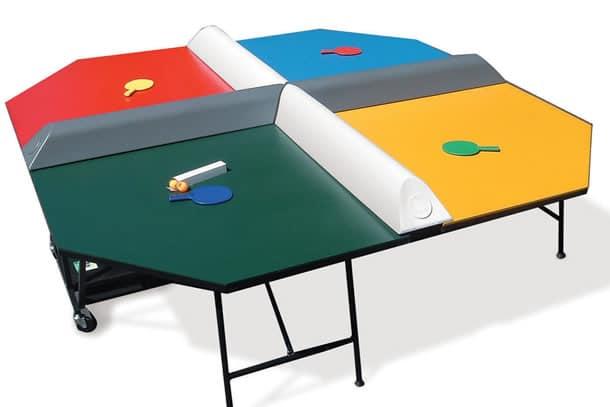 Four square il tavolo da ping pong per 4 dottorgadget - Tavolo da ping pong dimensioni ...