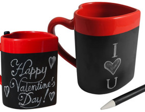 Love Message Heart Mug