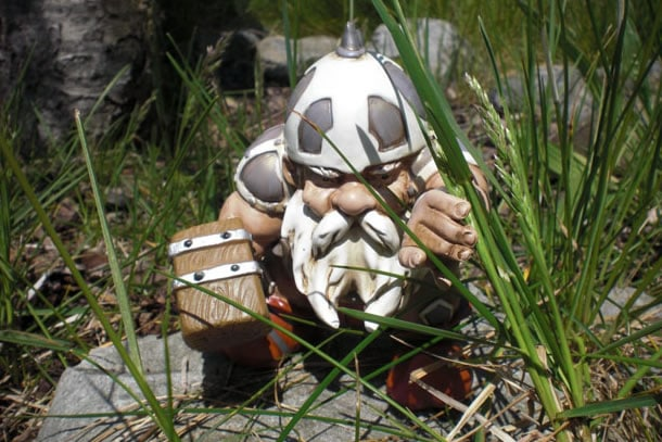 Nano da giardino guerriero dottorgadget for La storia dei nani da giardino