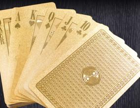 Le carte da gioco d'oro