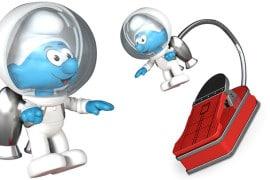 Il Puffo Astronauta da lettura