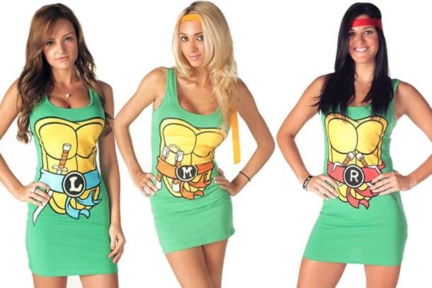 I vestiti da donna delle tartarughe ninja dottorgadget