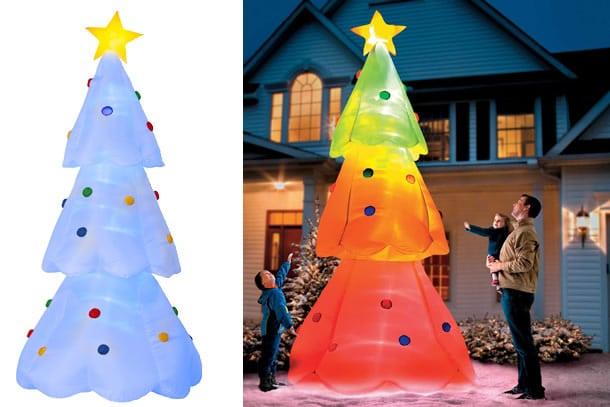 Casetta Di Natale Gonfiabile : Lalbero di natale gonfiabile multicolore dottorgadget