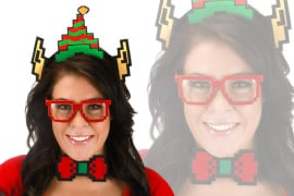 Il costume Pixel da elfo natalizio