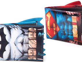 I portafogli con mantello di Batman e Superman