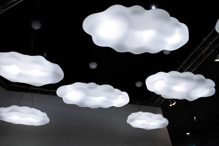 Lampadario A Forma Di Nuvola.La Nuvola Lampadario