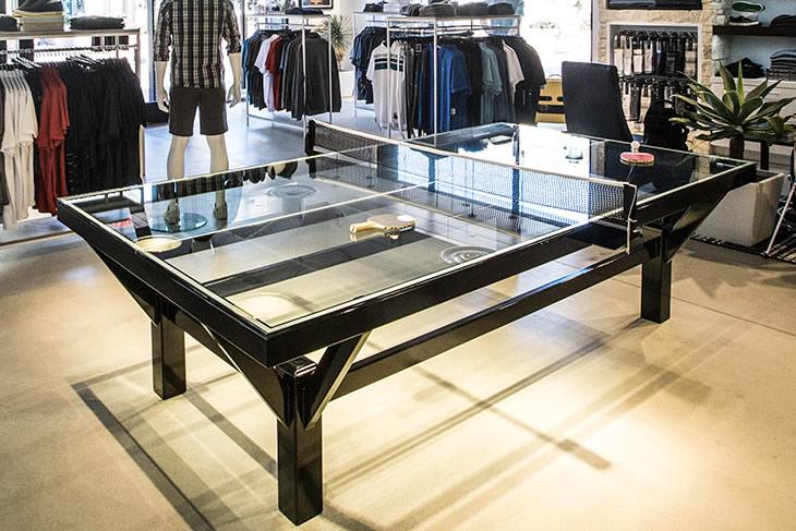 Il tavolo da ping pong trasparente dottorgadget - Costruire tavolo ping pong pieghevole ...