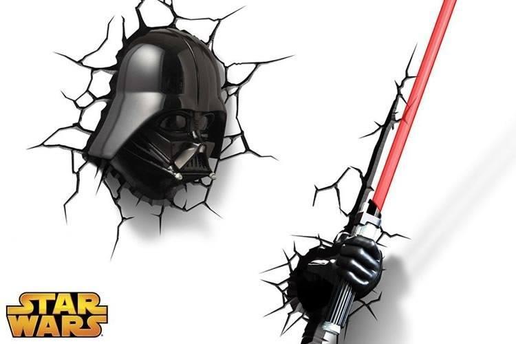 La serie dedicata a Star Wars delle celebri luci da parete 3D