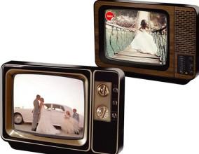 Portafoto televisione vintage