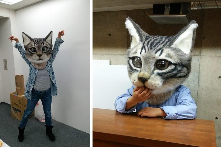Maschera gatto gigante dottorgadget for Animali da casa