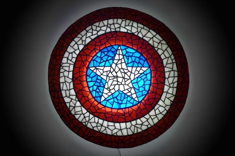 scudo di vetro di capitan america dottorgadget