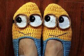 Pantofole Minions all'uncinetto