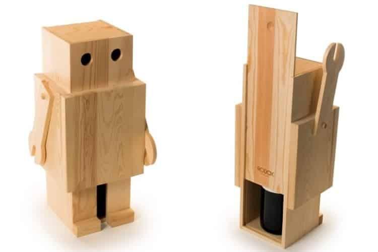 Robot porta vino dottorgadget - Porta vino legno ...