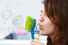 Spazzola per bolle di sapone