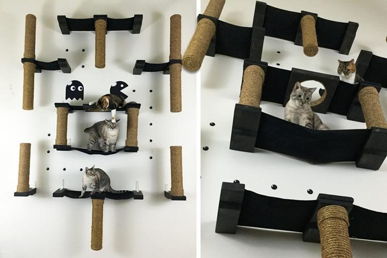 Pac man per gatti dottorgadget for Parete attrezzata gatti