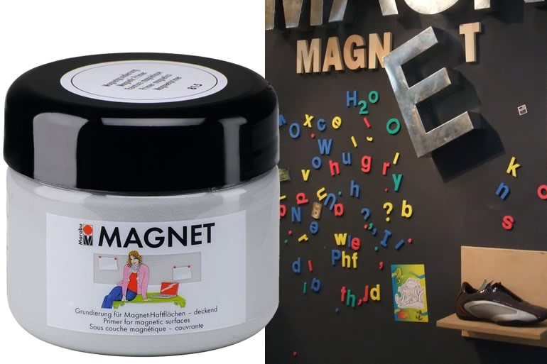 Vernice magnetica dottorgadget for Vernice muro
