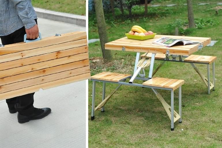 Tavolo da picnic portatile dottorgadget - Tavolo grande legno ...