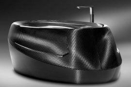 Vasca da bagno in fibra di carbonio