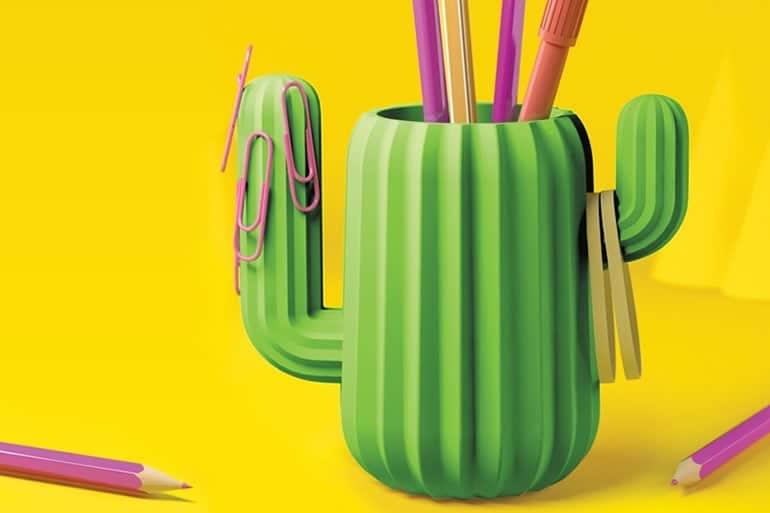 Cactus portapenne dottorgadget for Portapenne ufficio design