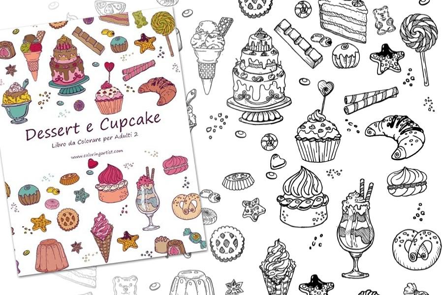 Libro da colorare dessert e cupcake dottorgadget - Libri da colorare gratuiti da stampare ...
