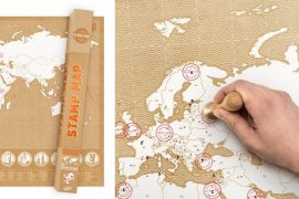Mappa del mondo da timbrare