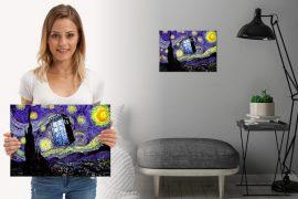 Targa TARDIS – Notte stellata di van Gogh