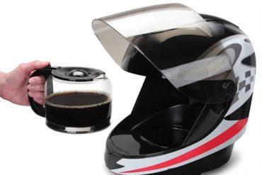 Casco da moto da caffè