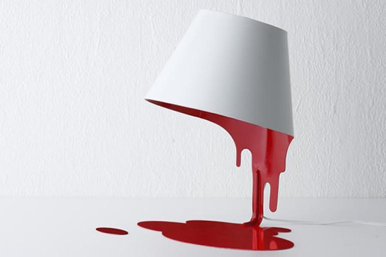 Lampada Barattolo Vernice : La lampada liquida insanguinata dottorgadget